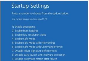 Use Startup Settings in Windows 8.1 and 10 to disable driver signature enforcement