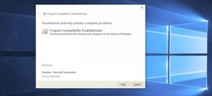 Windows 10 Program Compatibility Troubleshooter