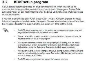 Instructions in the user manual of the Asus P8b75-V on how to reset the UEFI BIOS