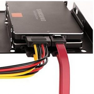 Inateck 2x 2.5 Inch SSD to 3.5 Inch Internal Hard Disk Drive Mounting Kit Bracket (SATA Data Cables and Power Cables included)