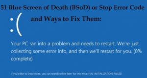 Windows crash Blue Screen of Death (BSoD) or STOP error message (Win10)