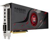 AMD Radeon HD 6990 graphics card showing its single DVI port and four DisplayPorts
