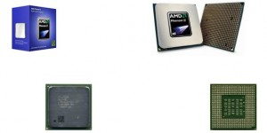 AMD processors - packaging and top and bottom views