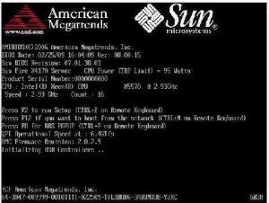 American Megatrends - AMI - BIOS startup splash screen