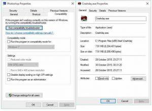 Windows 7/8.1/10 Compatibility Mode