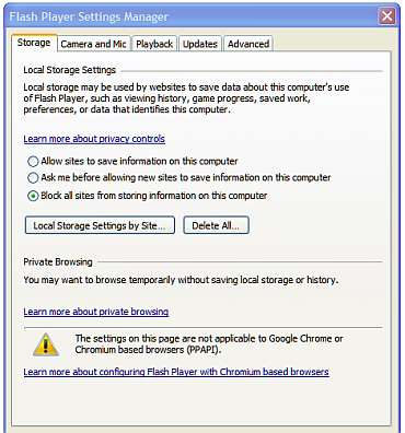 How To Open The Adobe Flash Player Settings In Google ...