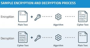 Brief depiction of the data encryption process