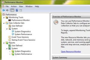 The Performance Monitor in Windows 7