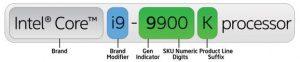 Intel Core i9 processors - naming system