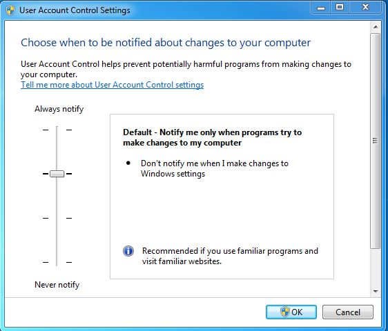 Greyed-out UAC Yes button - Windows 7/8 1/10 - PC Buyer Beware!