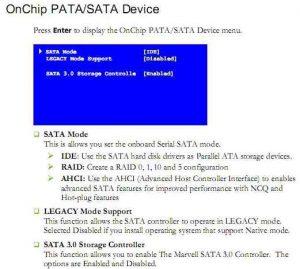 Page in EVGA X58 SLI3 motherboard user manual on SATA settings