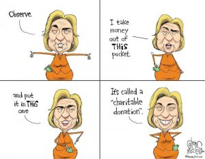Criminals Clintons - the Clinton money trick using the Clinton Foundation charity
