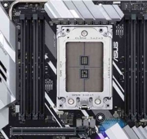 AMD Ryzen Threadipper LGA (Land Grid Array) Socket TR4 in an ASUS PRIME X399-A motherboard