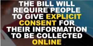 he new EU and UK data-protection law requires online users to give express permission for their private information to be collected and used to provide customised adverts
