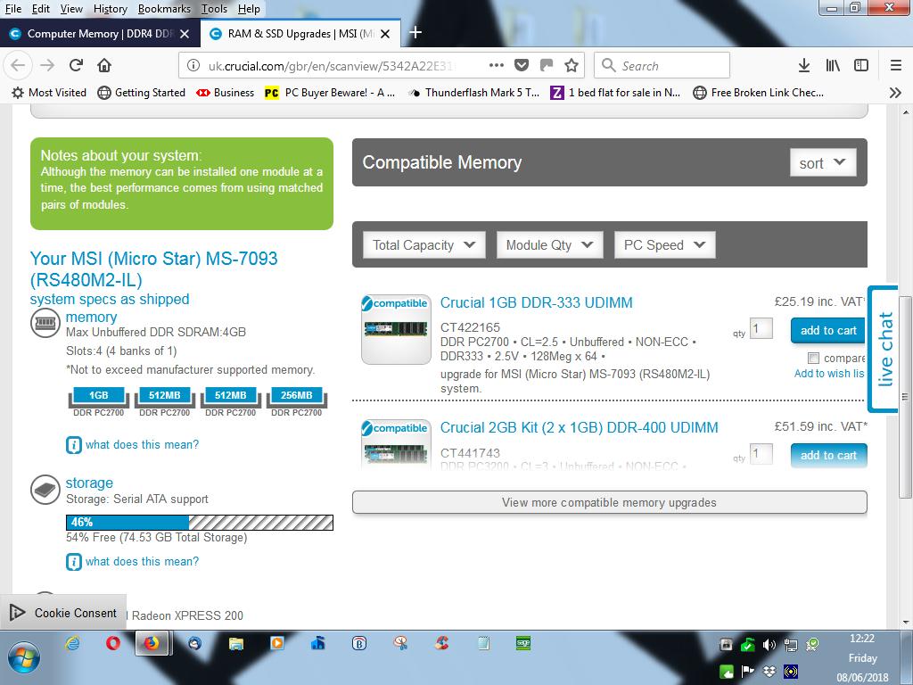 RAM problem - Crucial RAM memory scan