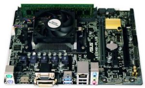 Showing the upgrade example of a motherboard, processor, CPU cooler and RAM memory bundle