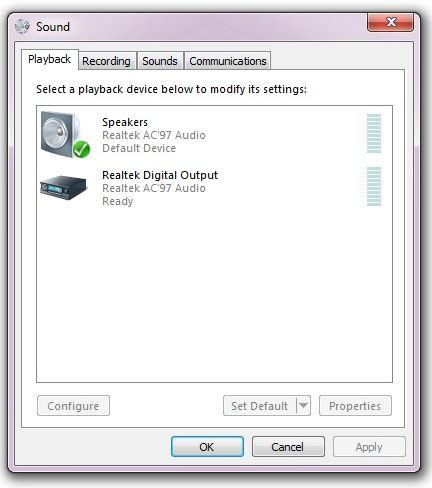 No HDMI sound - Windows 7 PC, Nvidia GeForce graphics card