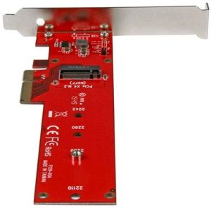 M.2 SSD drives - PCIe adapter card that can host drives from lengths 2242 to 22110