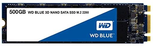 Slow M.2 SSD - A Western Digital Blue M.2 SSD that uses an SATA interface