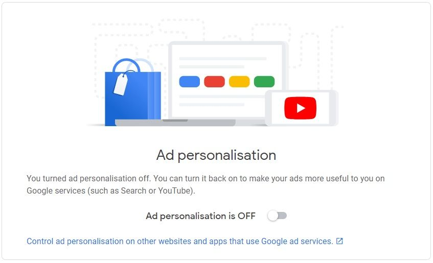 Ban Google - Ad personalization is OFF