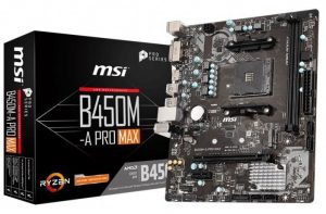 MSI B450M A Pro Max socket AM4 mATX motherboard