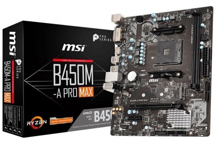 MSI B450M A Pro Max AMD socket AM4 mATX motherboard