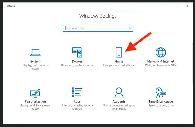 Win10/Android phones - Connect phone to Windows 10