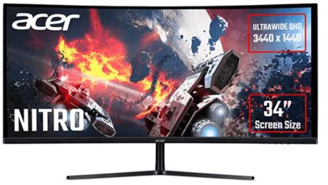 Ultrawide monitors - Acer Nitro 34-inch model