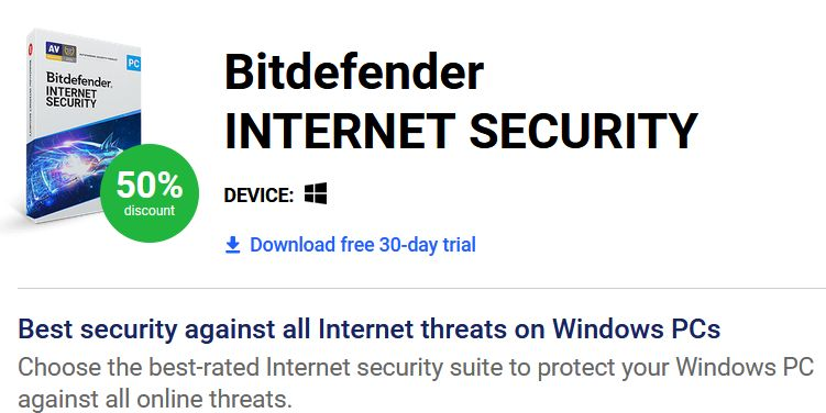 Bitdefender review - Internet Security package