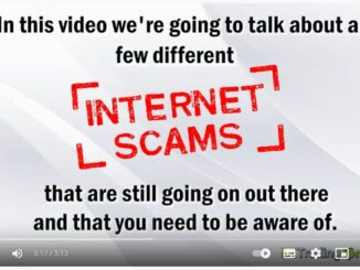 Demo video message - protect yourself against online scams